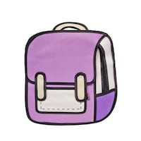 GIRL SCHOOL BAG COMIC BACKPACK BOOKBAGS CARTOON 3D JUMP STYLE 2D DRAWING CARTOON Bailey's Crossroads