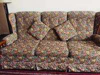 floral multiple colours 3 seats sofa and french accent chair Toronto, M3A