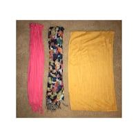 three yellow, black, and pink scarves Virginia Beach, 23462