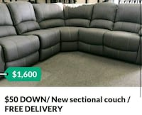 $50 Down / New sectional recliner couch