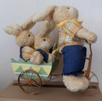 Daddy Bunny on Bike with baby bunny Quinte West