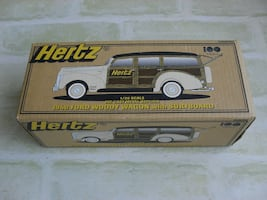 Hertz Ford 1940 With Surfboard Diecast 1:25