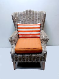 Set of 2 Wicker Chairs Miami