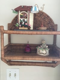 wall shelf bamboo material &except accessories Manchester, 06040