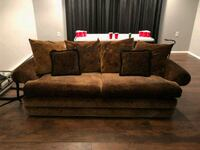 Brown Suede Sofa with Queen Pull Out Bed Lakewood Township, 08701