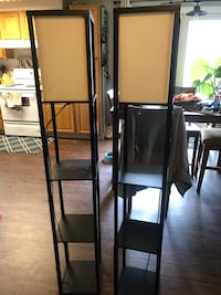 Two Tall Shelf Floor Lamps
