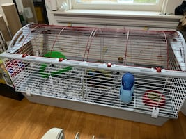 Living World Large Pet Cage + Water Bottle