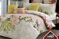 white and green floral bed sheet set Toronto, M2H