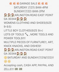 Garage sale East Point, 30344