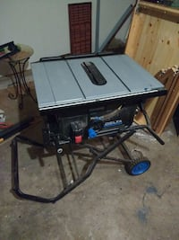 Delta 10 in Portable Contractor Table Saw, GRR-RIPPER and sled