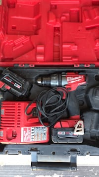 Red and black milwaukee cordless power drill Odessa, 79762