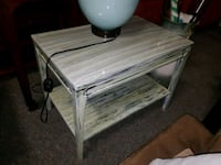 GREEN SHABBY CHIC END TABLE