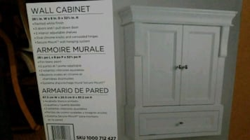 New in box, bathroom cabinet