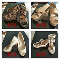 4 pairs of shoes. wedges and heels Hagerstown, 21740