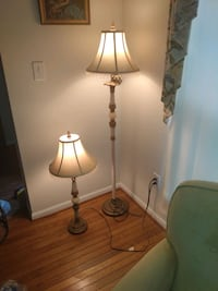 Decorative lamps (one tall one short)