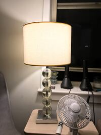 white and gray table lamp New York, 10014