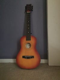 Kids..Red and black classical guitar 40 km