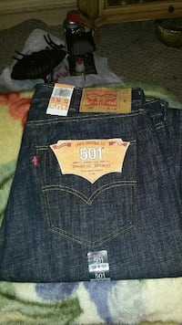 blue petroleum Levis 501 38x32 new