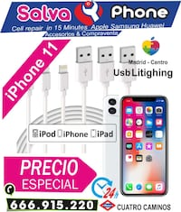 Cable USB Lightning iPhone XS MAX XR X 8 Plus 7