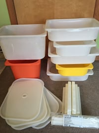 IKEA Trofast storage bins with 5 lids and 14 guide rails East Stroudsburg, 18302