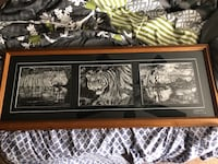 Tigers print in a frame 15x40 not a scratch on it like new paid $200 from artist  Bowmanville, L1C 4W9