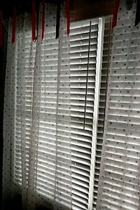 Curtains, sheer. White with pink & brown dots Mechanicsburg