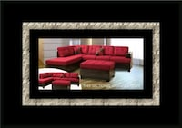 Red sectional with ottoman 32 mi