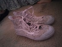 pair of white-and black Vans high-top sneakers Lancaster, 93535