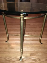Glass and brass round end tables Calgary, T2W 0N2