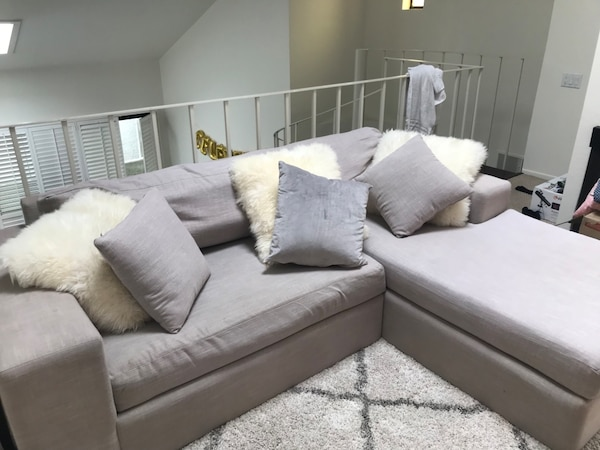 Grey L shaped corner couch