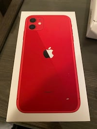 iPhone 11 (red) w/ screen protector