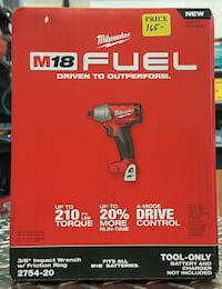 "Milwaukee M18 Fuel 3/8"" Impact Wrench w/Friction Ring Brand New"