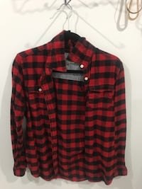 red and black plaid dress shirt Surrey