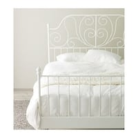 Ikea King size Leirvik bed frame and Morgedal Mattress MCLEAN