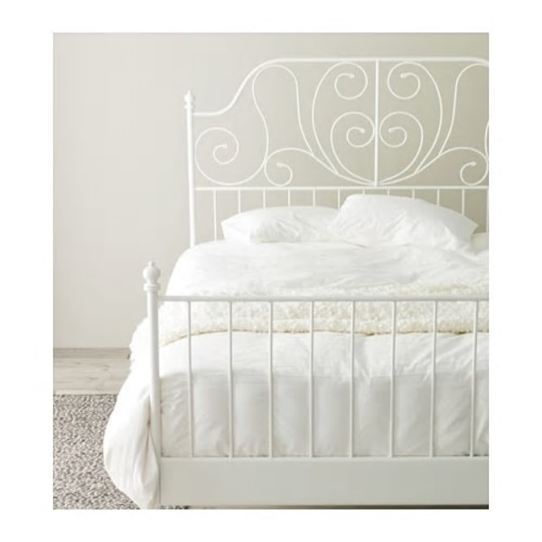 Ikea King size Leirvik bed frame and Morgedal Mattress