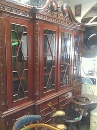brown wooden framed glass display cabinet Gatineau, J9H 0E5