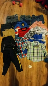 toddler's assorted clothes Sherman