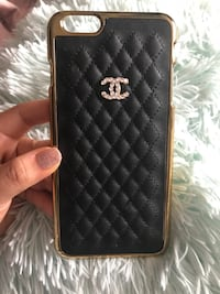 Iphone 6 plus Quilted black chanel inspired iphone case