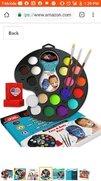 Halloween Face Paint Kit Kids Adults Make-up