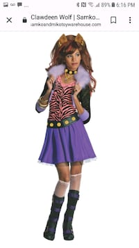 MONSTER HIGH- Clawdeen Wolf Costume Barrie, L4N 5T7