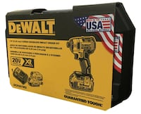 DEWALT 20V XR 3 SPEED BRUSHLESS IMPACT WITH 2 BATTERIES CALGARY