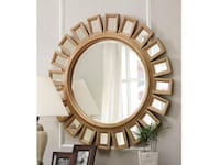 Floor Model Wall mirror with Gold Frame ALEXANDRIA