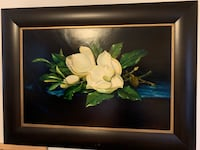White and green flowers painting Roswell, 30076