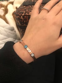 Real rose gold bracelet with special stones Carlstadt, 07072