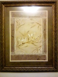 brown wooden framed painting of white flower Bakersfield, 93305