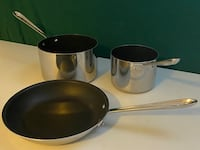 All-Clad 3-Piece D3 Tri-Ply Stainless Nonstick Cookware Bethesda, 20816