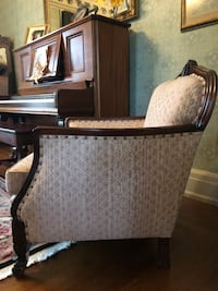 Brown wooden framed padded armchair price decrease. Was$185 now $125 Ebensburg, 15931