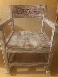 white and brown wooden Gator Chie armchair McIntosh, 32664