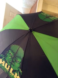 green and black Hulk umbrella