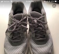 Pair of gray adidas low-top sneakers Diamond Point, 12824
